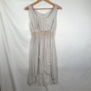 Made in Italy Cream viscose dress